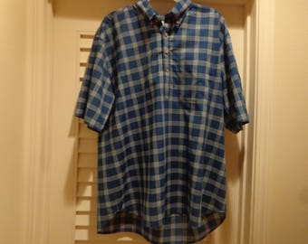 exclusive from sam sstuffkauai limited edition mens button down collar  popover shirt authentic Indian madras plaid 890579e79a