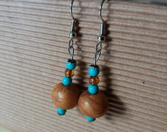 Gold & Turquoise Earrings
