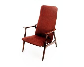 Schwedischer Sessel In Birkenrahmen Und Schoner Schlanker Form Aus Den 1950er Jahren