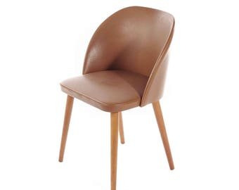 1960s Swedish Chair In Pvc And Birch Legs