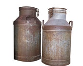 Antique Metal Milk Can, Sweden early 1900s