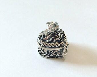 Jewelry & Watches Sterling Silver Locket India Small Taweez Kavach 925 Prayer Box Pendant Amulet Good Taste Fine Jewelry