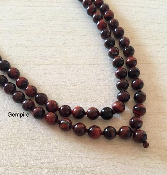 Tiger/'s Eye Necklace; Red Tiger/'s Eye Necklace; Brown Tiger/'s Eye Necklace; Gemstone Necklace