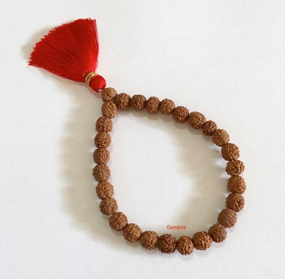 Rudraksha Stretch Bracelet US seller Nepal Rudraksha beads 14 mm Meditation mala bracelet Healing bracelet Rudraksh mala beads bracelet Wrist bracelet Reiki Healing