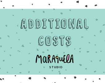 ADDITIONAL COSTS to add on to one of my Clip Art Sets or Printables - Maraquela Studio  - please, contact me before buying