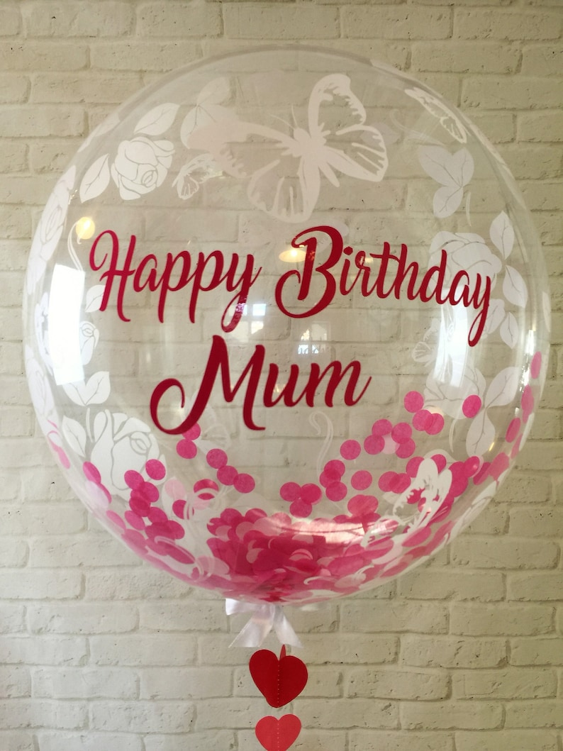 Personalised Birthday Balloon In A Box Helium Inflated