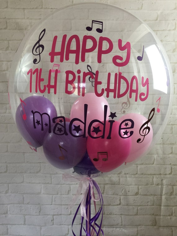 Personalised Balloon Music Party Custom In A