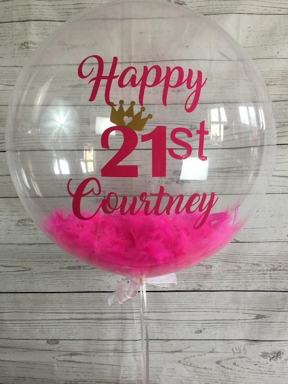 Personalised 21st Birthday Balloon Bespoke Helium