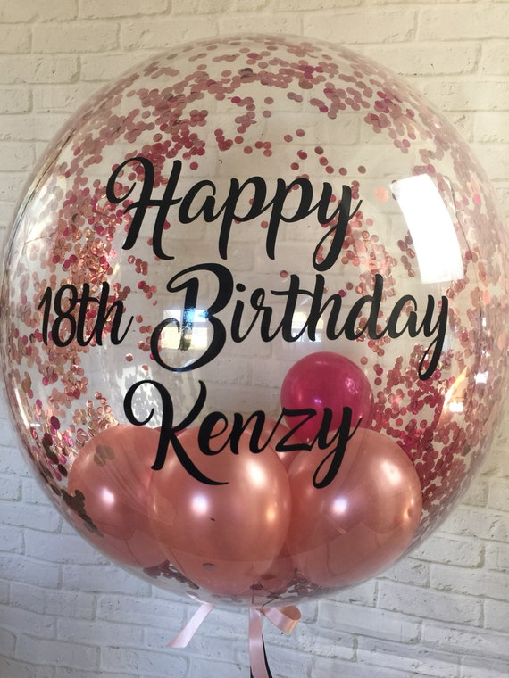 Personalised Birthday Balloon Helium Inflated Bespoke