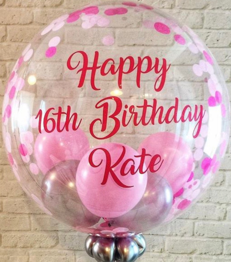 Personalised Birthday Confetti Balloon In A Box Inflated