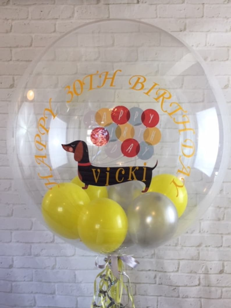 Personalised Birthday Balloon 30th 40th 50th 60th In A