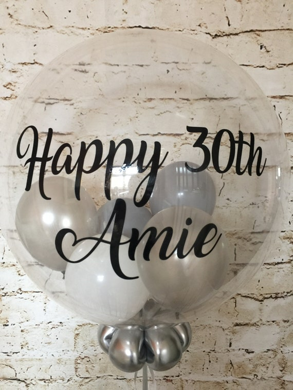 Personalised 30th Birthday Balloon Gift Helium Inflated