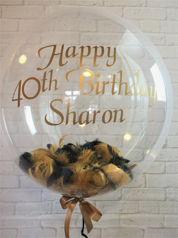 Personalised 30th Birthday Feather Balloon Helium