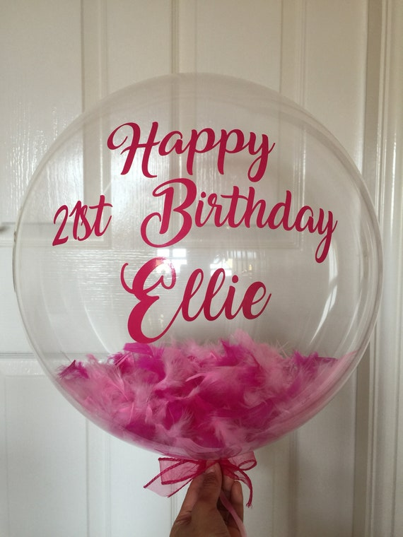 Personalised Birthday Balloon In A Box Delivery 21st