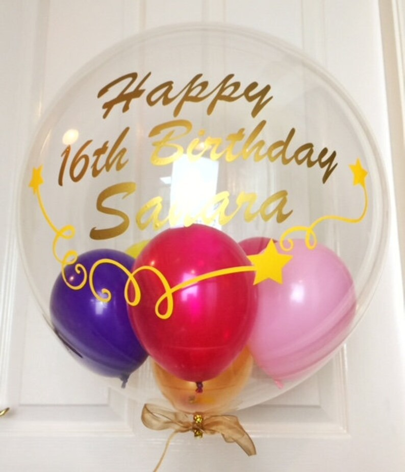 Bespoke 16th Birthday Balloon Custom Clear Statement