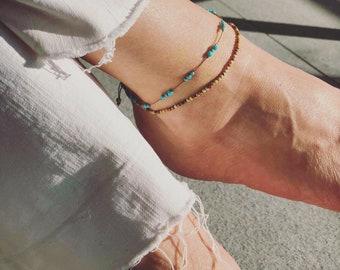 Ankle bracelet-Turquoise