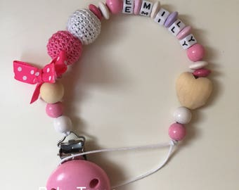 Personalized pacifier holder*dummy clip*soother