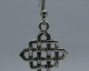 "Pendant earrings ""Infinity knot"""