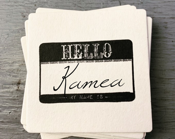 Featured listing image: Hello My Name Is Party Coasters