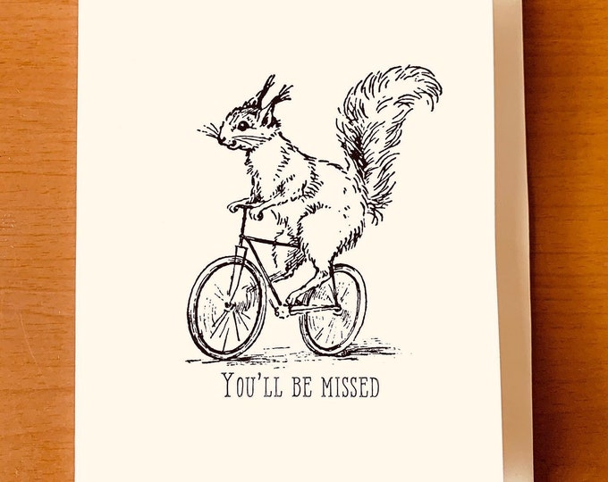 Featured listing image: You'll Be Missed - Folded card with Quote