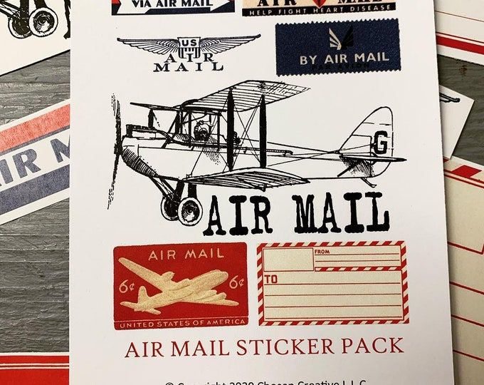 Featured listing image: Air Mail sticker pack