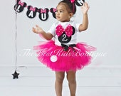 Hot Pink Minnie Mouse Birthday Tutu Outfit Fuchsia Minnie Mouse Birthday Set Minnie Mouse 1st Birthday Outfit Minnie Mouse Dress Disney Trip