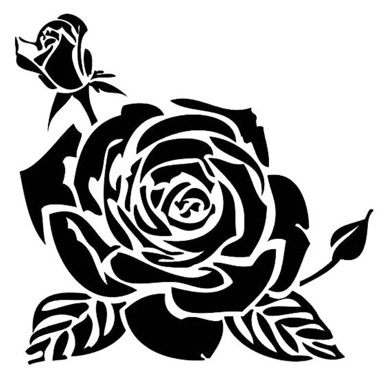 Classic Rose 190mm Mylar 6 8 12 Stencil durable and sturdy****NEW**** Free UK p/&p