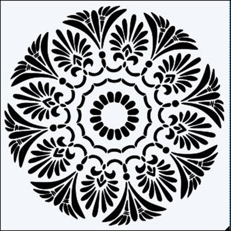 """8 x 8 /"""" 6 x 6 /"""" Flower Background Quality 190m Mylar Stencil 12 x 12/"""" *NEW*"""