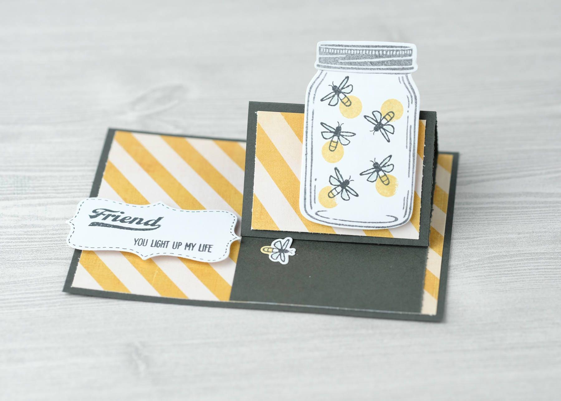 Firefly Friend Easel Pop Up Card Etsy
