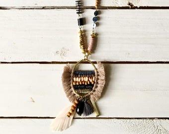 Boho charm necklace