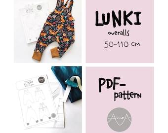 PDF-pattern, overalls LUNKI 50-100cm