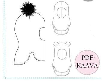 Nuutti kypärälakki 40-58cm, PDF-kaava