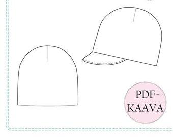 Pipana pipo ja lippapipo, PDF-kaava 40-59cm