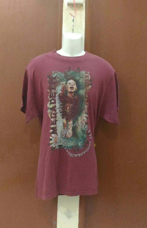 841ce71191e5 Vintage 90s Megadeth Cryptic Writing 97-98 World Tour   Etsy