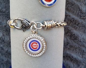 Chicago Cubs bracelet, metal band