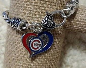 Chicago Cubs charm bracelet or necklace ( please specify in order note)