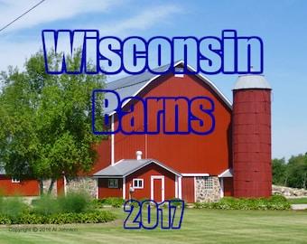 2017 Wisconsin Scheunen Wand Kalender, Scheune Kalender, 2017 Wandkalender, Wisconsin Scheunen, Scheune Fotografie
