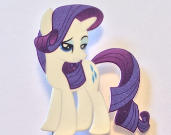 Rarity pin with cutie mark