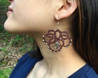 Boho Ohm hemp earrings