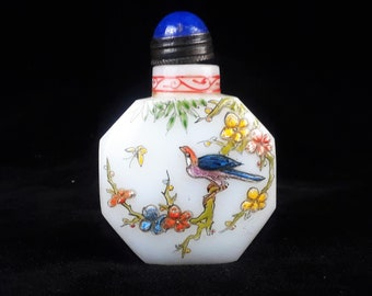 Antique Peking Glass Snuff Bottle - Signed -1875-1908
