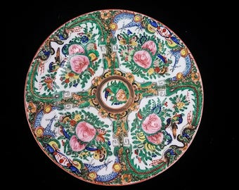"CHINESE ""Rose Medallion""  6"" Cabinet Plate - 1960's"