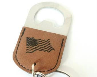 Laser Engraved Key Chain Bottle Openers