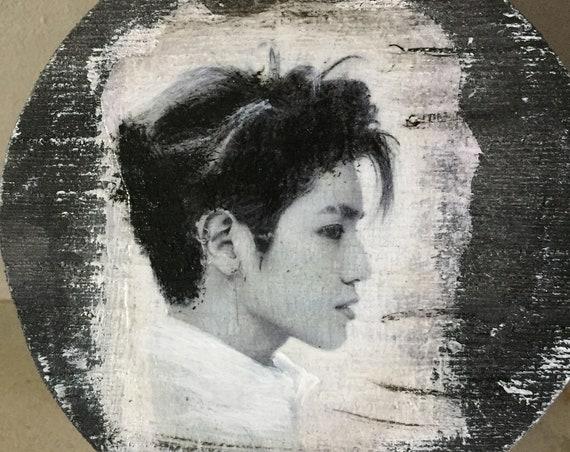 Kpop-NCT-TAEYONG-Round Wood Box-4