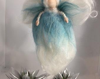 Blue white Angel Merino