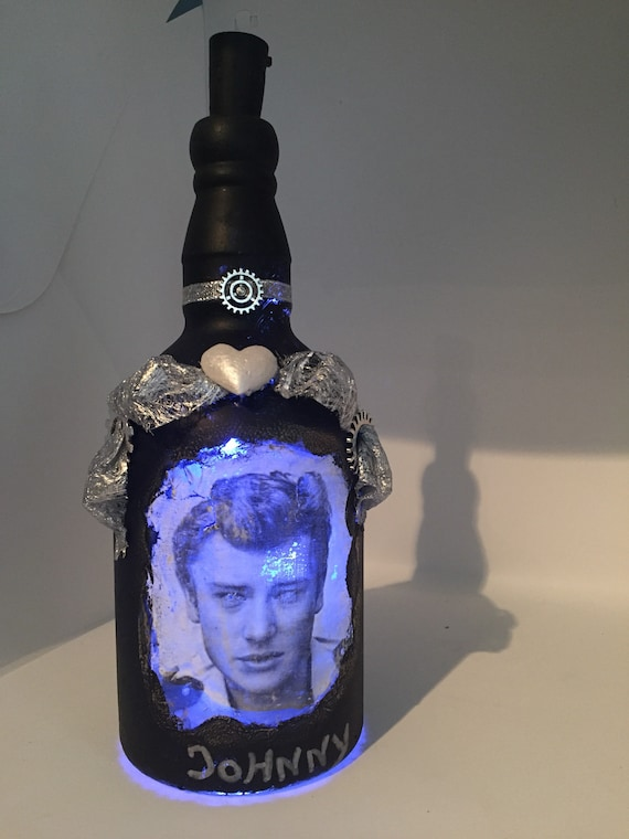 Bottle light Johnny Hallyday military