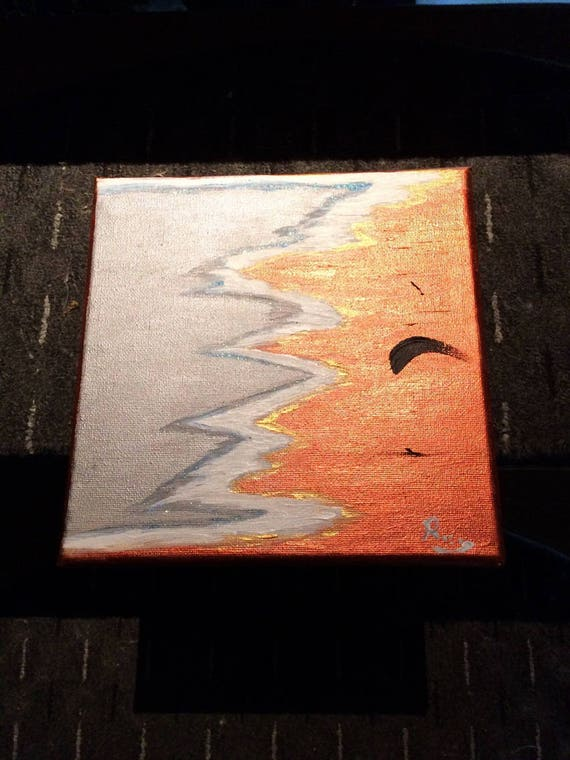 Table of art: 20 x 20 copper tide