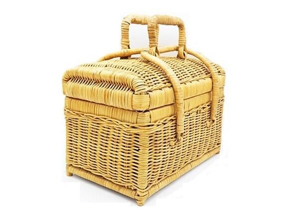 Vintage French Wicker Bag Vintage Wicker Basket Wi