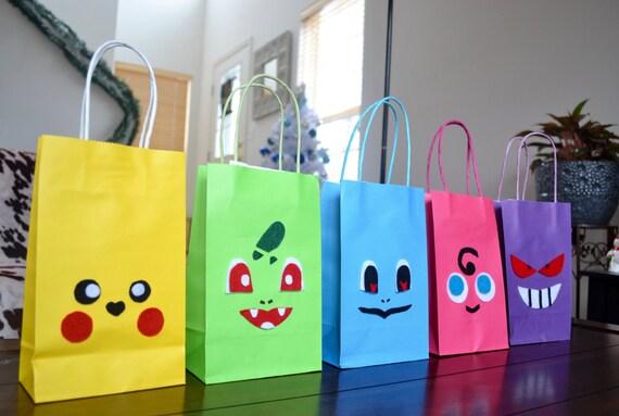 POKEMON FAVOR BAGS Set Of 16 Pokemon Inspired Favor Bags
