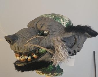 Masque en latex d'homme-rat no 5 avec mâchoire indépendante / Latex ratman mask no 5 with independant jaw