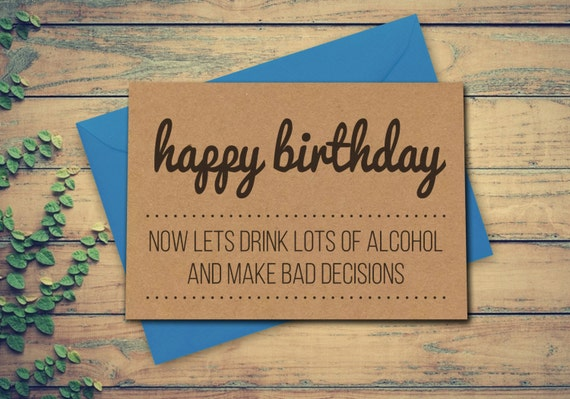 Best Friend Birthday Card Funny Alcohol For